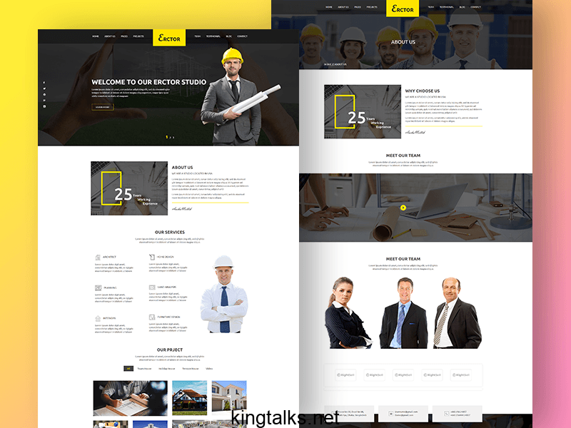 Photo of Download Creative Responsive Architecture Template Free