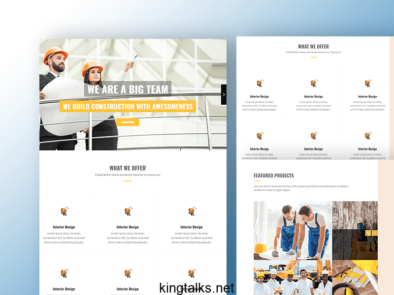 Photo of Constructions HTML 5 Template