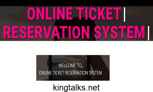 Photo of Online Ticket Booking System PHP