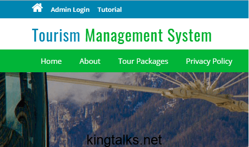 Photo of Tourism Management System PHP Project Download