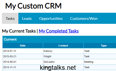 Photo of Customer Relationship Management Project in PHP MySql