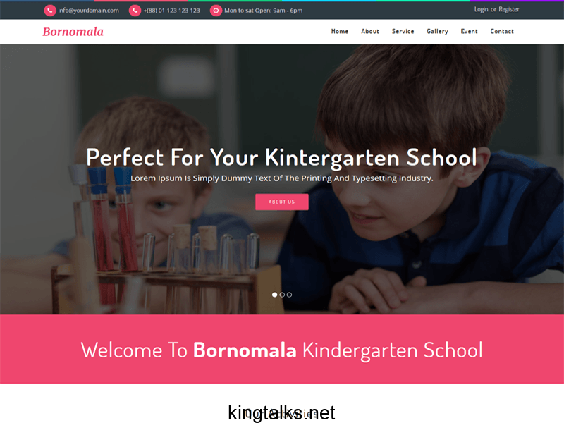 Photo of School Html Template Free Download