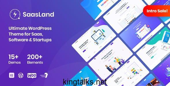 Photo of SaasLand – MultiPurpose WordPress Theme for Saas & Startup