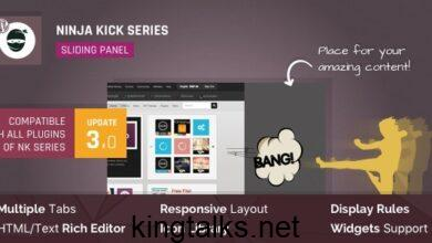 Photo of WordPress Off-Canvas Sliding Panel – Ninja Kick v3.0.13