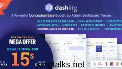 Photo of DashLite v1.4.0 – Bootstrap Responsive Admin Dashboard Template