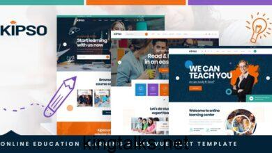 Photo of Kipso v1.0 – Vue Nuxt Online Education Learning & LMS Template