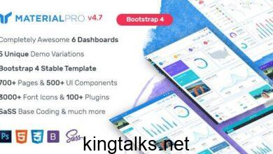 Photo of MaterialPro v4.7 – Material Design Bootstrap 4 Admin Template