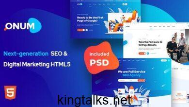 Photo of Onum v1.0 – SEO & Marketing HTML5 Template
