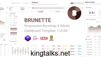 Photo of Brunette v1.0 – Responsive Bootstrap 4 Admin & Powerful UI Kit
