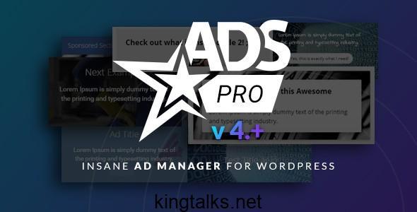 Ads Pro Plugin 4.3.96 Nulled - WordPress Advertising Plugin