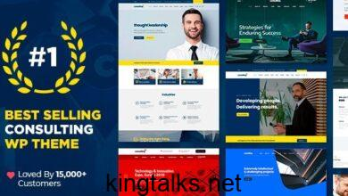Consulting 5.2.3 Nulled - Business, Finance WordPress Theme