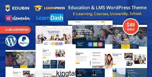 Edubin 6.7.8 - Education LMS WordPress Theme