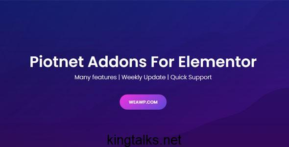 Piotnet Addons Pro For Elementor Pro 6.3.44 Nulled