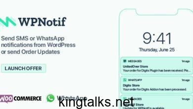 WPNotif 2.2.0.9 Nulled - WordPress SMS & WhatsApp Message Notifications