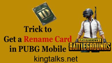 Trick to Get an another ID Rename Card in PUBG Mobile